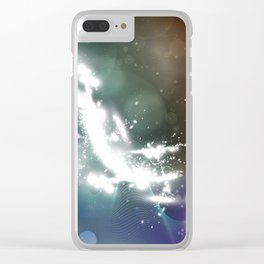 abstract background with highlights Clear iPhone Case
