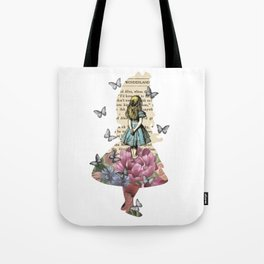 Alice In Wonderland Magical Garden - Vintage Book Tote Bag