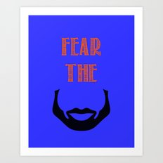 fear the beard - okc Art Print