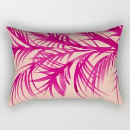 Pink Palms Rectangular Pillow