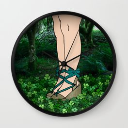 Stroll in an Irish Forest Wall Clock