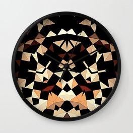 Patchwork Half Mandala Neutral Tones Wall Clock