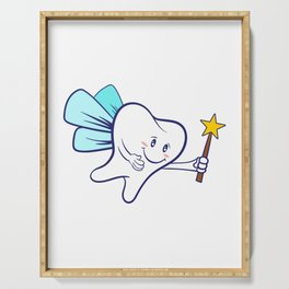 Tooth Fairy A Cute White Teeth Great Gift For Dentists Doctors, Dental Technician T-shirt Design Serving Tray