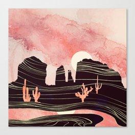 Rose Desert Canvas Print