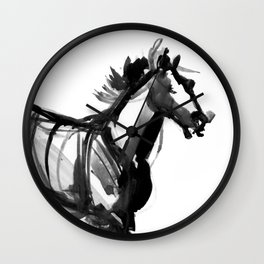 Horse (Far from perfection) Wall Clock