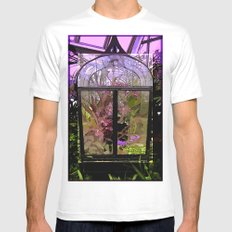 Green House Orchids Mens Fitted Tee White MEDIUM