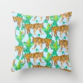 Jungle Tigers - LBG Throw Pillow