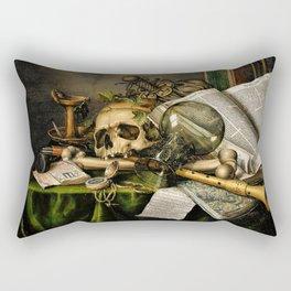 Vintage Vanitas- Still Life with Skull Rectangular Pillow