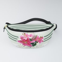Summer pink lilies Fanny Pack
