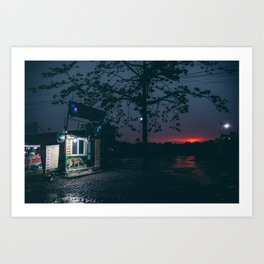 Chitwan sunset Art Print