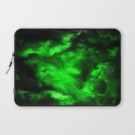 Envy - Abstract In Black And Neon Green Laptop Sleeve