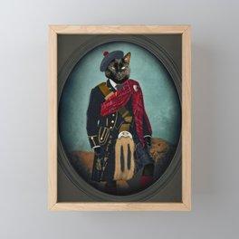 Boris the Bruce, Mouser-in-Chief Framed Mini Art Print
