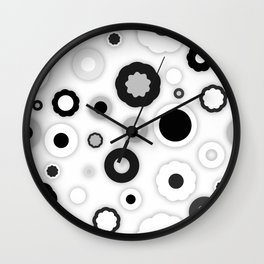 Black white polka dots Wall Clock