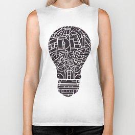 Idea Light Bulb Biker Tank