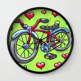 Bike Love Wall Clock