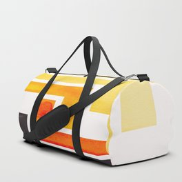 Orange Ancient Aztec Pattern Mid-century Modern Simple Geometric Pattern Watercolor Minimalist Art S Duffle Bag