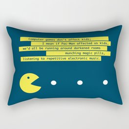 Computer Games Don't Affect Kids Rectangular Pillow