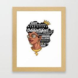 Melanin Afro Natural Hair Pride Framed Art Print