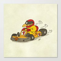 f1 Canvas Prints featuring F1 by Pepan