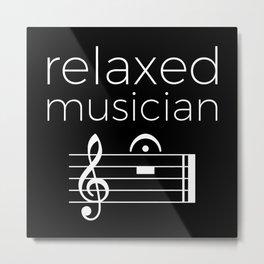 Relaxed musician (dark colors) Metal Print
