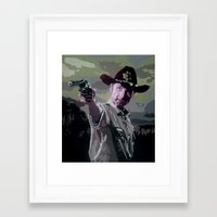 rick grimes Framed Art Prints featuring Rick Grimes by Processed Image