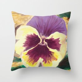 Pretty Pansy Throw Pillow