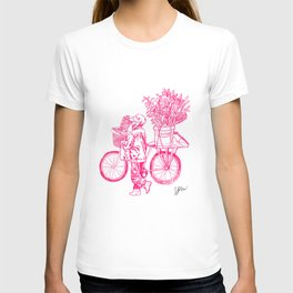 Bicycle Flower Seller in Hanoi T-shirt