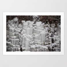 Ice Falls Art Print