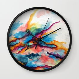 Creativity Breaching the Void Wall Clock