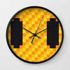No703 My pixels minimal movie poster Wall Clock