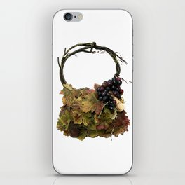 Grapes and Wine Handbag iPhone Skin