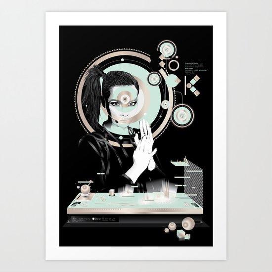 Björk Holosoundstation - B Art Print
