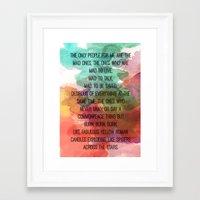 kerouac Framed Art Prints featuring Kerouac Watercolour: by NomadicArt