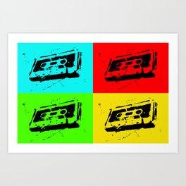 Cassettes Square Art Print