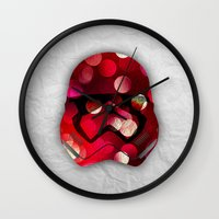 stormtrooper Wall Clocks featuring stormtrooper by ifcha