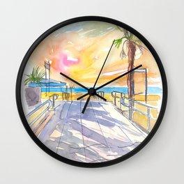Summer Vibes at the Italian Adria Beach Wall Clock