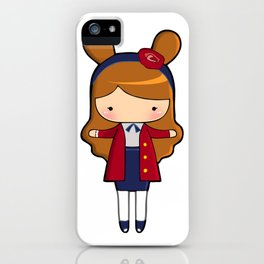 Upper East Side Bunny iPhone Case