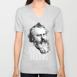 Johannes Brahms BW Unisex V-Neck