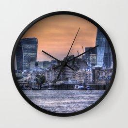 The Three Buildings London Wall Clock