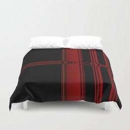 Vibrant Red Pattern Design Duvet Cover