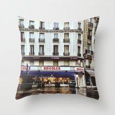 Rain in Paris Throw Pillow