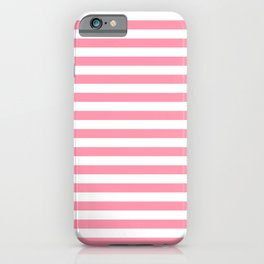 Light Pink and White Stripes iPhone Case