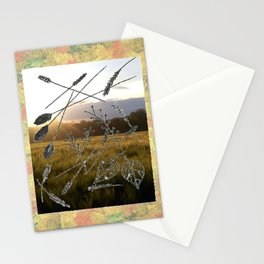 """"""" Fall Wheat """" Stationery Cards"""