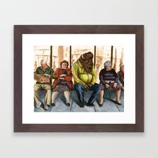 Hard day for a Buffalo 2 Framed Art Print