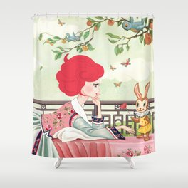 Liselle in Wonderland Shower Curtain