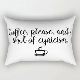 Gilmore Girls - Coffee and Cynicism Rectangular Pillow