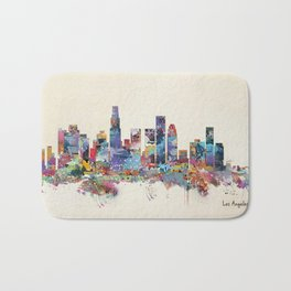 los angeles california skyline Bath Mat