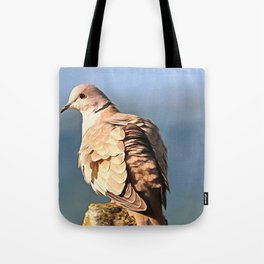 Artistic Ring Necked Dove Tote Bag