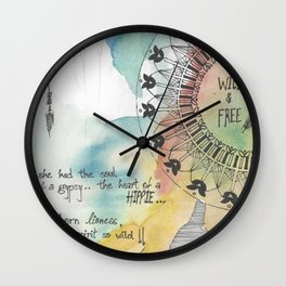 Young Wild & Free Wall Clock