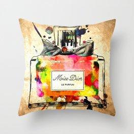 Miss D. Le Parfum Throw Pillow